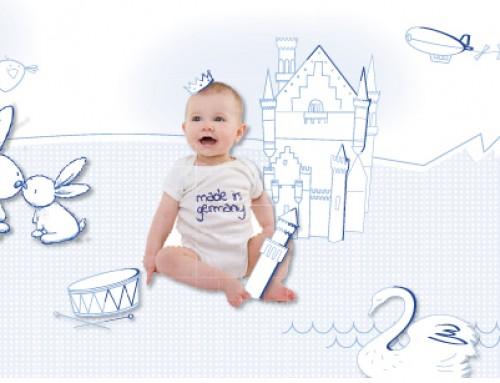 Sanosan Babypflege – illustrative Bildkonzepte für eigenständiges Erscheinungsbild