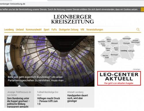 Content Marketing-Reihe des Leo-Centers – Freie Redaktion Ulrike Klaus für LKZ Leonberg
